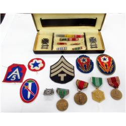 MILITARY PATCH & MEDAL LOT. PATCHES INCLUDED.