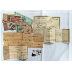 WWII SEAMANS CERTIFICATE OF IDENTIFICATION PAPER A