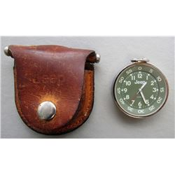 JEEP POCKET WATCH AND LEATHER JEEP POUCH
