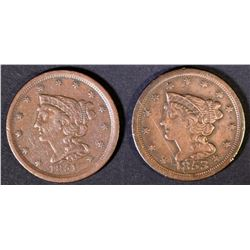 1851 VF/XF & 1853 VF HALF CENTS