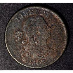 1803 LARGE CENT, F+ porosity