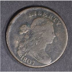 1807 LARGE CENT  F/VF