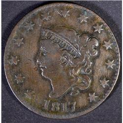 1817 LARGE CENT  VF