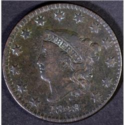 1828 LARGE CENT  VF