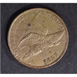 1857 FLYING EAGLE CENT, CH BU