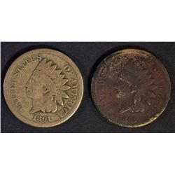 2-1861 INDIAN CENTS, CIRC