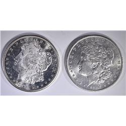 1881-S & 1884-O CH BU+ MORGAN DOLLARS