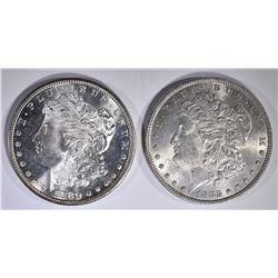 1880-S & 1885 CH BU+ MORGAN DOLLARS