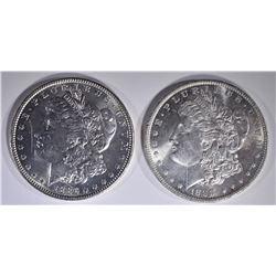 1886 & 1888 CH BU+ MORGAN DOLLARS