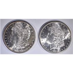 1882-S & 1880-S CH BU+ MORGAN DOLLARS