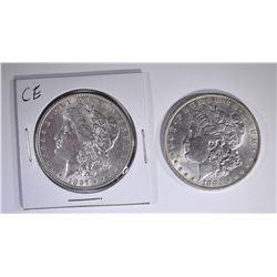 1883-O & 1897 CH BU+ MORGAN DOLLARS