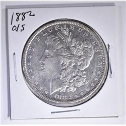 1882-O/S MORGAN DOLLAR, AU KEY DATE