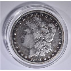 1892-S MORGAN DOLLAR, VF KEY DATE