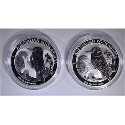 2-2019 AUSTRALIAN KOOKABURRA 1oz SILVER $1 COINS