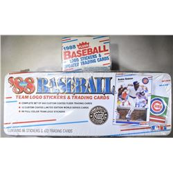 (2) 1988 BASEBALL LOGO STICKERS &