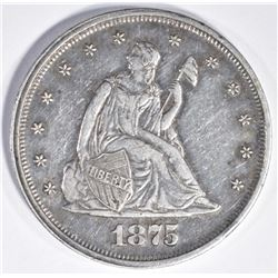 1875 TWENTY CENT PIECE, AU/BU