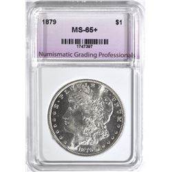 1879 MORGAN DOLLAR, NGP GEM BU+