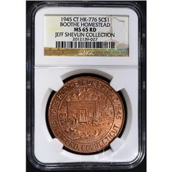 1945 CT HK-776 SO CALLED DOLLAR, NGC MS-65 RED