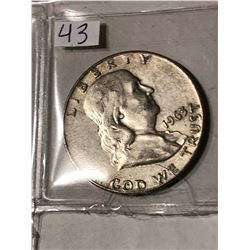 1963 D Silver Franklin Half Dollar Nice Early US Coin
