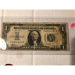 Rare 1934 Funny Back One Dollar Silver Certificate