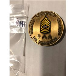 Military Challenge Token Armored Corps Presented By the Commandant