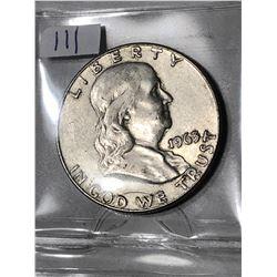 1963 D High Grade Silver Franklin Half Dollar Nice Early US Coin