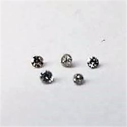 5 Total White Diamonds Tested Natural Authentic .01pt-.03pt Assorted All for 1 Money!!