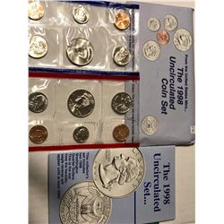 1998 P D US Mint Set in Original Packages