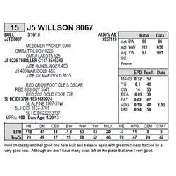 J5 WILLSON 8067