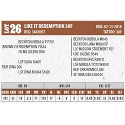 LIKE IT REDEMPTION 38F