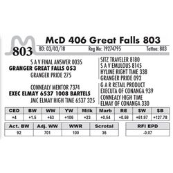 803 - McD 406 Great Falls 803