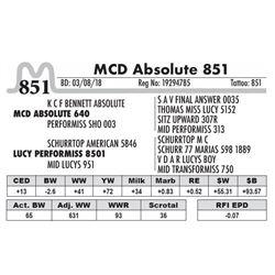 851 - MCD Absolute 851