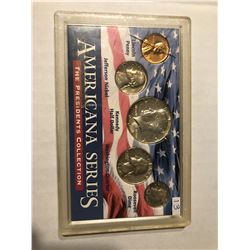 Silver Americana Series Coin Collection Silver Kennedy Quarter and Dime