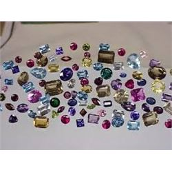 Bag of 10 Total GEMSTONES out of Safe Box