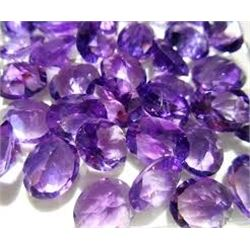 Bag of 5 PURPLE AMETHYST GEMSTONES that came out of Safe Box Assorted Carat Weights GEM Quality