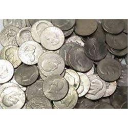 5 Total Eisenhower Dollars Assorted Dates-Grades