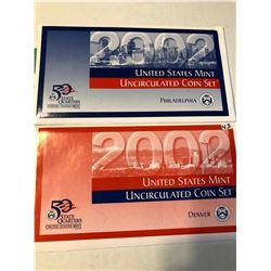 2002 P D US Mint Set in Original Packages