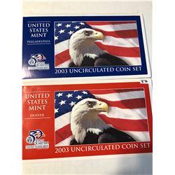 2003 P D US Mint Set in Original Packages