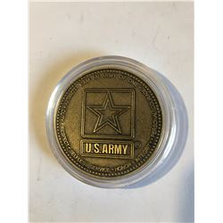 RARE Challage Coin ARMY Presented by a GENERAL US ARMY OF ONE