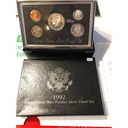 1992 Premier Silver Proof Set in Original Box with Paperwork