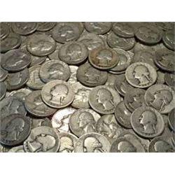 2 Total Silver Quarters Assorted Dates Mints 1932-1964