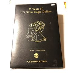 25 Years of US Silver Eagles Binder with Sheets Like New