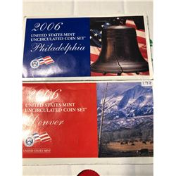 2006 P D US Mint Set in Original Packages