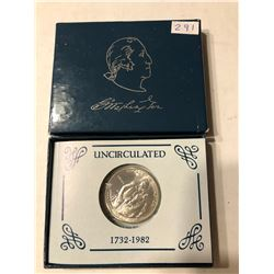 1982 Silver Washington Commemorative Half Dollar Proof in Original Box