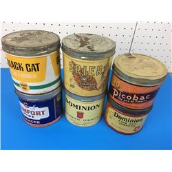 LOT OF TOBACCO TINS  (COMFORT, DOMINION, PICOBAC )