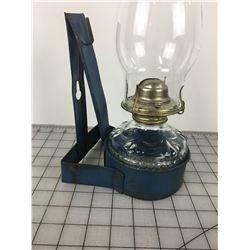 COAL OIL LAMP (W/TIN WALL MOUNT)