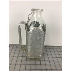 ALUMINUM MILK BOTTLE (POUR HANDLE & BOTTLE)