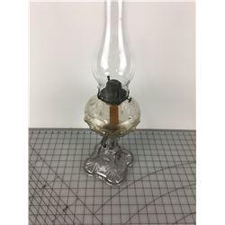 COAL OIL LAMP  (DECORATIVE GLASS)
