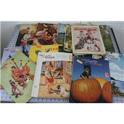 LOT OF 16 MAGAZINES (COUNTRY GUIDE) *1930S & 40S*