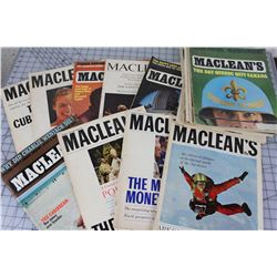 LOT OF 18 MAGAZINES (MCLEAN'S) *1960S*